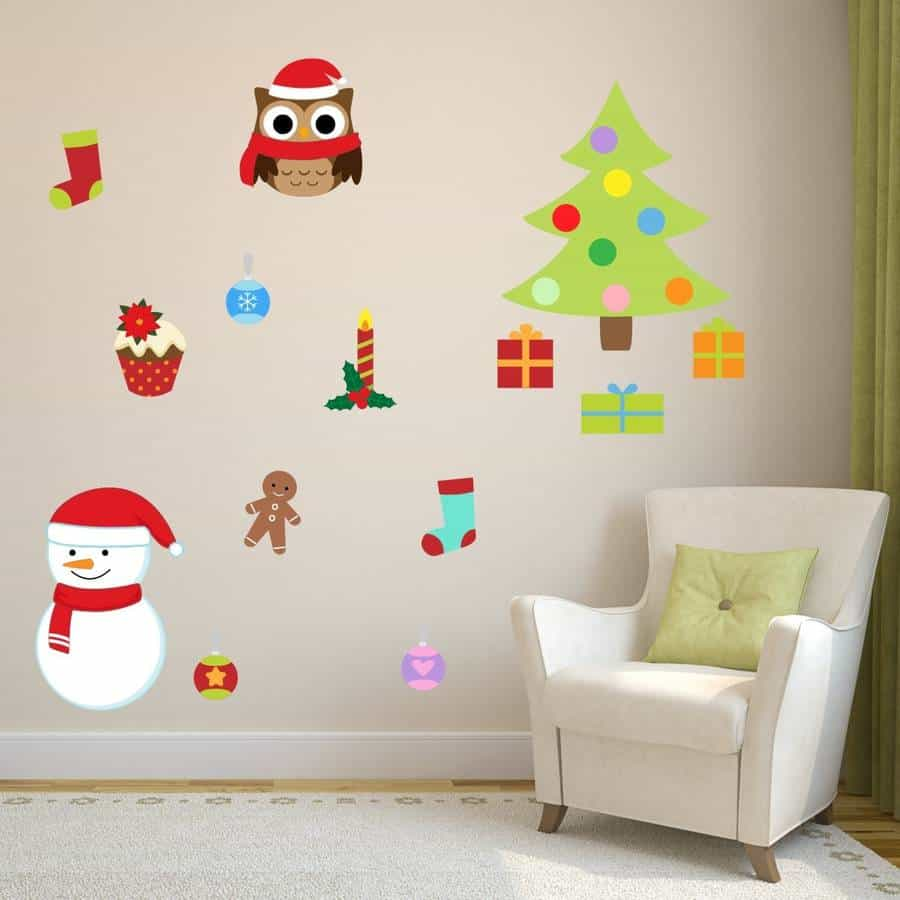 christmas wall sticker selection