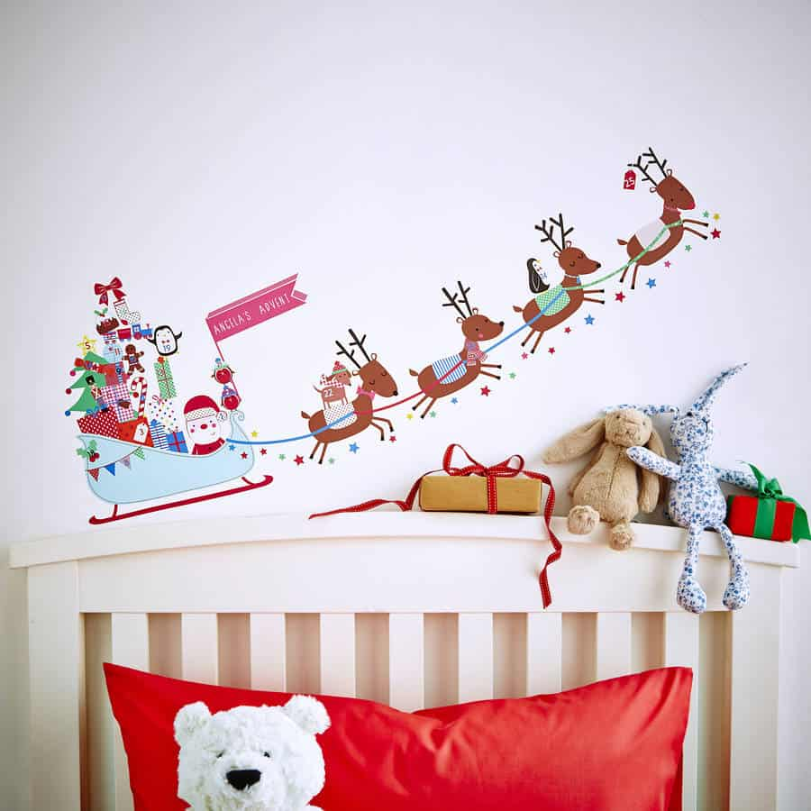 Christmas Wall Stickers Wall Art Kids - Christmas wall decals removable