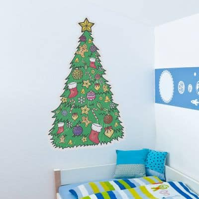 colouring in christmas wall sticker