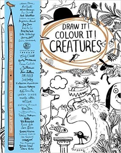 draw it colour it creatures