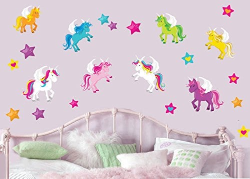 easy peel unicorn wall sticker