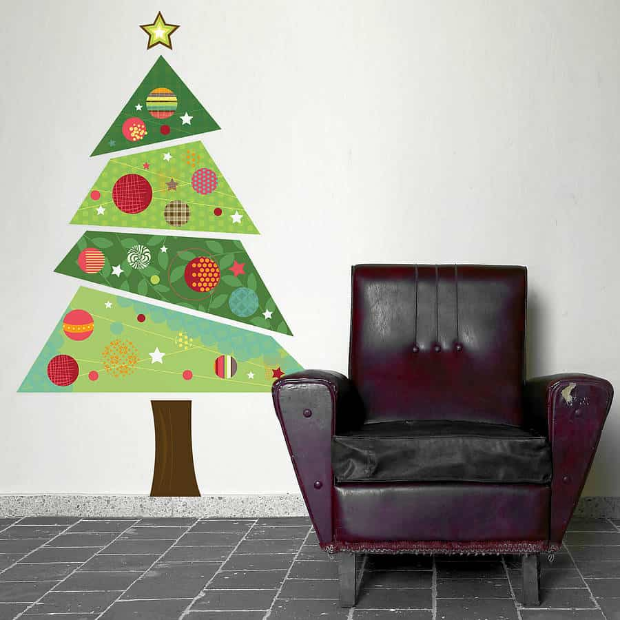 fabric christmas wall sticker