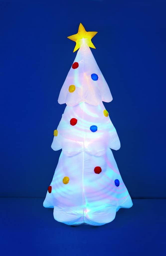 inflatable white christmas tree