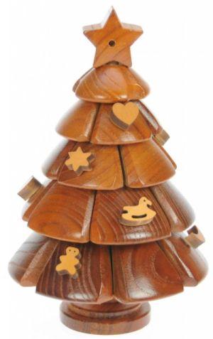 mini wooden christmas tree puzzle