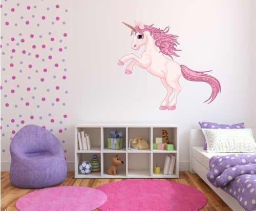 pink unicorn wall sticker