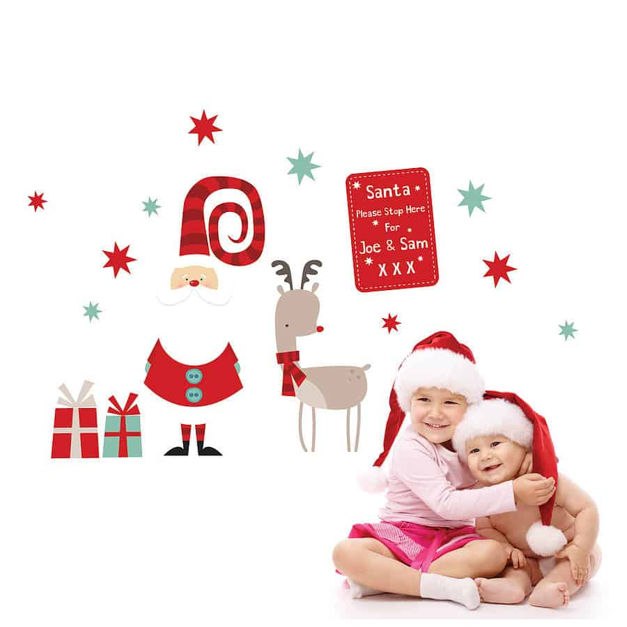 santa christmas wall sticker