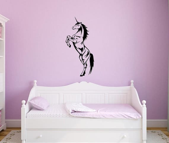 unicorn wall art sticker