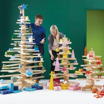unique wooden Christmas tree