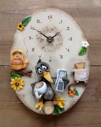 blackbird wall clock kids