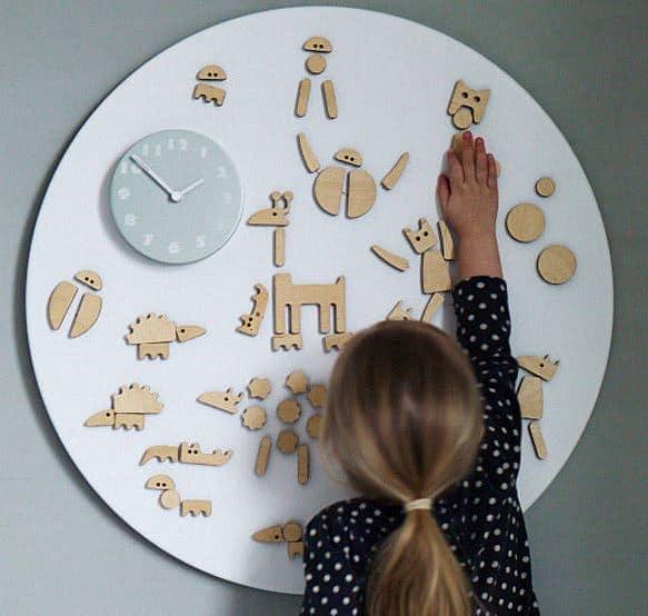 magnetic fun wall clock
