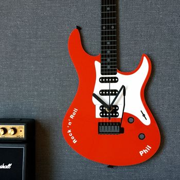 personalised electric guitar clock