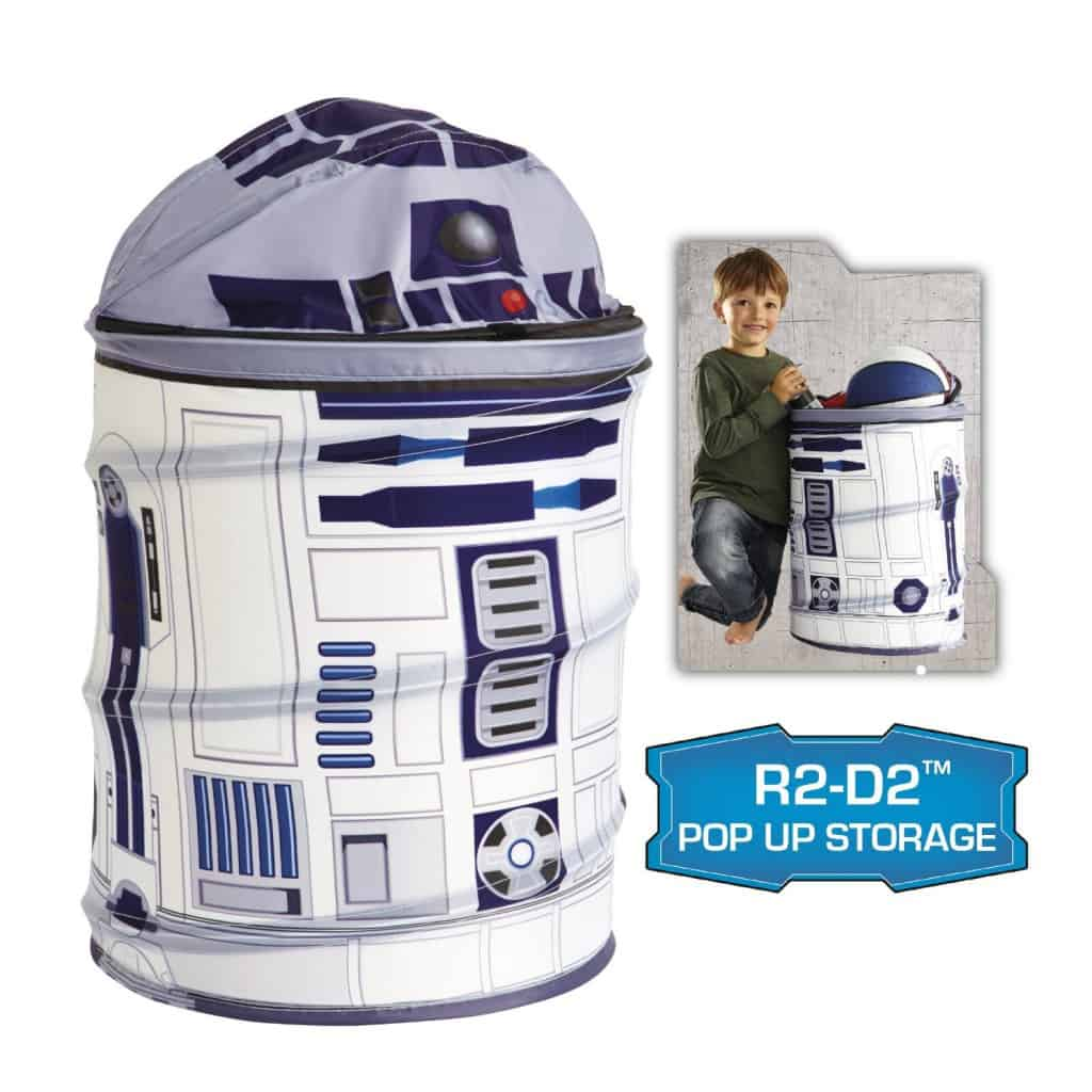 r2d2 pop up storage bin