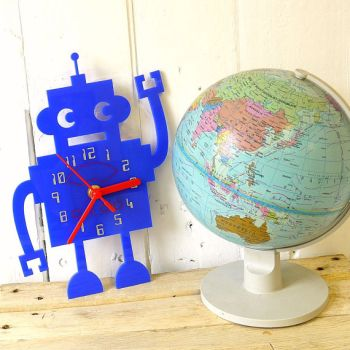 kids robot wall clock