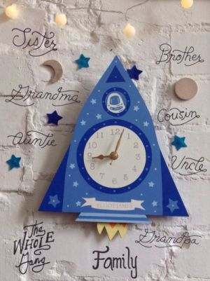 kids rocket clock