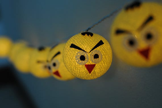 angry bird string lights