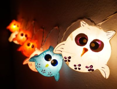 owl string lights