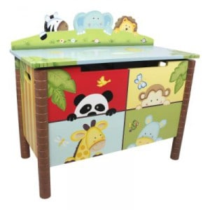 painted safari toy box