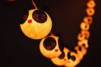 panda string lights