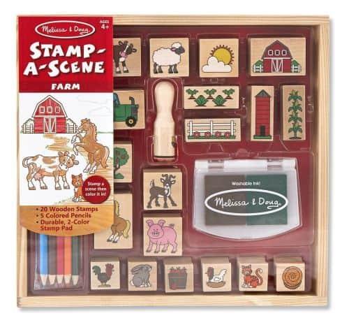wooden scene stamping set melissa & doug