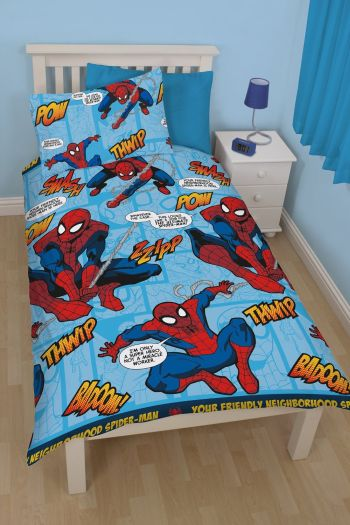 spiderman single duvet set