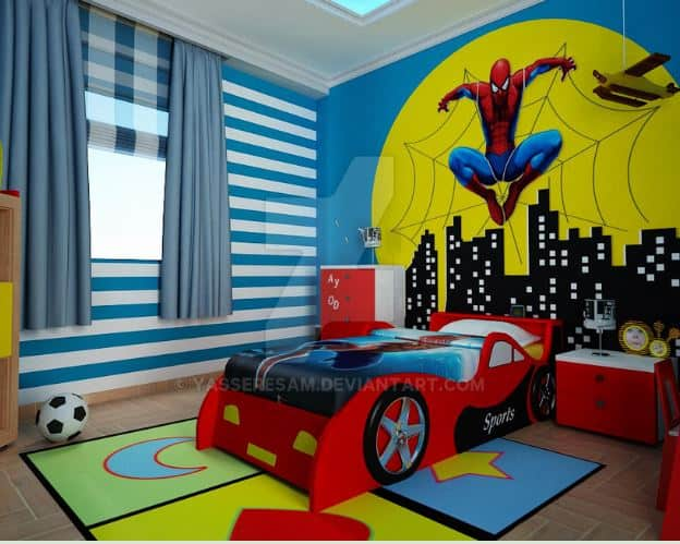 Spiderman Themed Bedroom - Ideas! - Wall Art Kids
