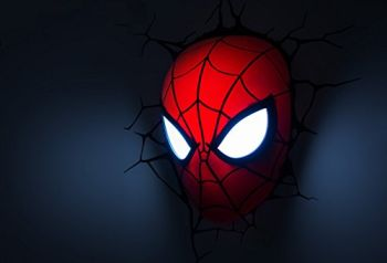 spiderman 3d wall light