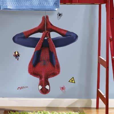 spiderman web slinging wall sticker