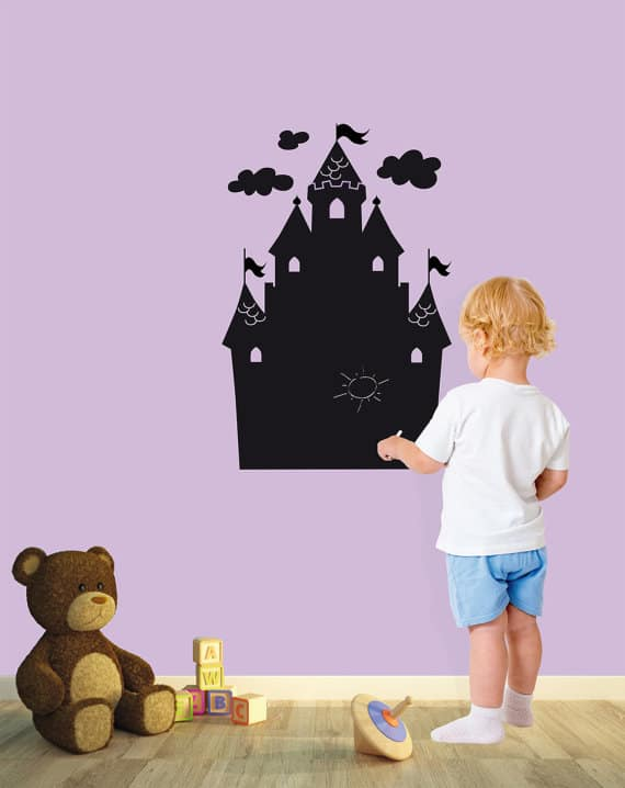 castle chalkboard wall sticker