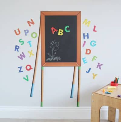chalkboard easel wall sticker