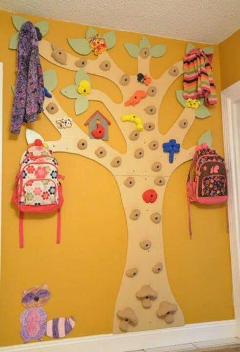 climbing wall tree