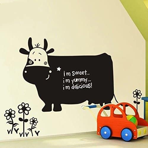 cow chalkboard wall sticker