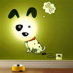 dog wall light