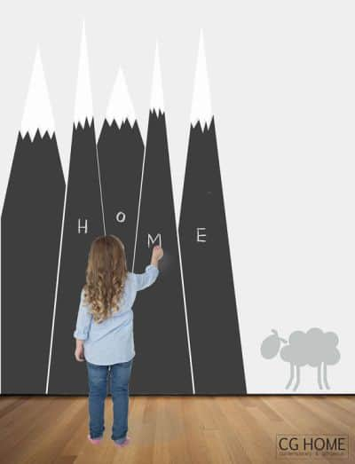 mountain chalkboard wall sticker