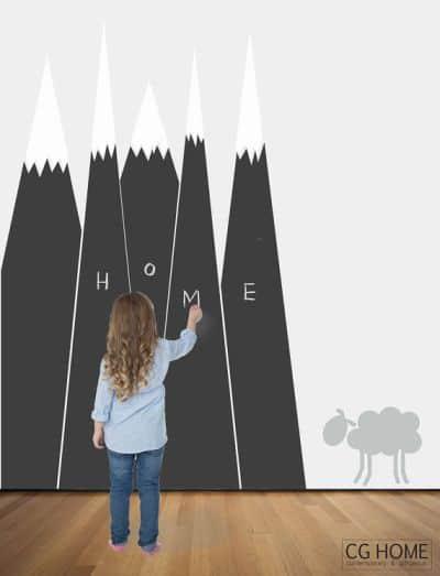 mountain chalkboard wall sticker
