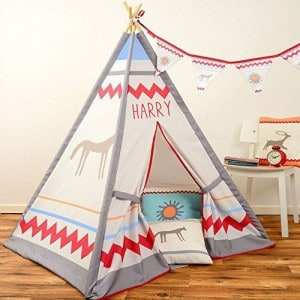 personalised name play tent teepee
