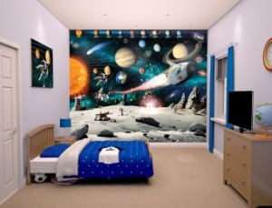 space room wall mural