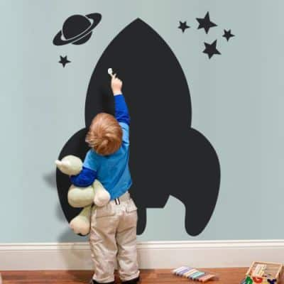 spaceship wall sticker