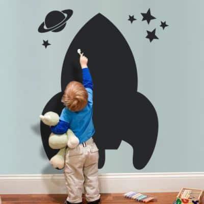 spaceship wall sticker
