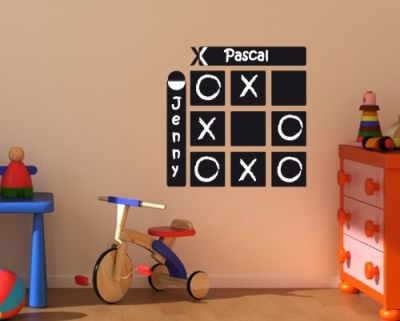 tic tac toe wall sticker