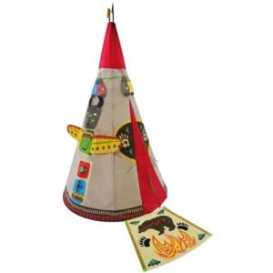 red india style teepee playtent wigwam