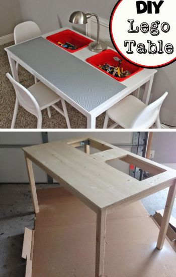 DIY Lego Table Idea For Kids Lego Room!