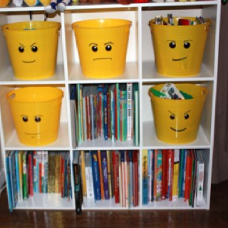 Lego Bucket Storage For Shelves!