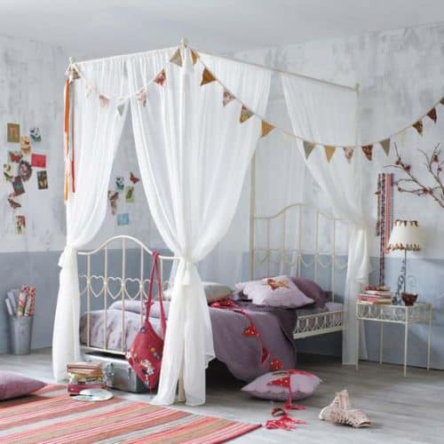 four poster girls bed