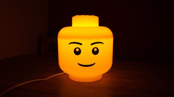 Cool Lego Head Lamp In Yellow!