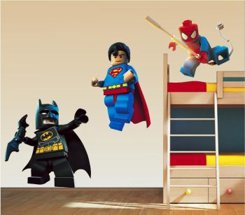 Lego Superhero Wall Stickers!