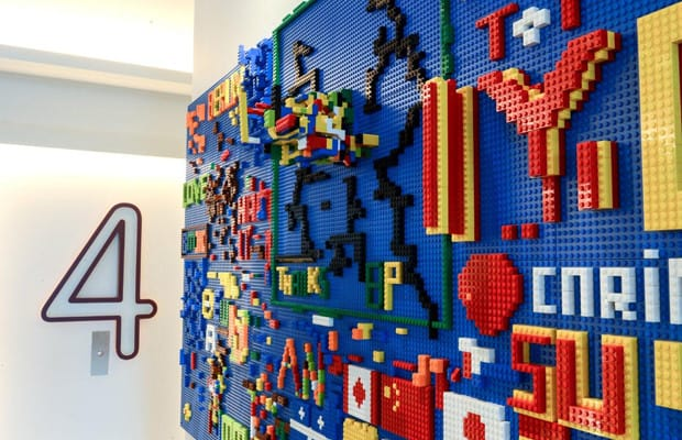 Awesome Lego Wall For Kids Room!