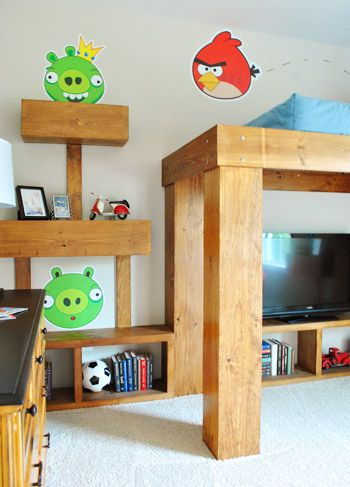 angry birds bed room