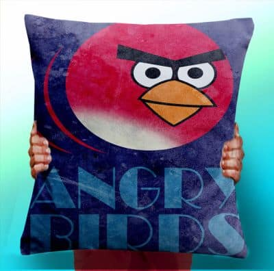 angry birds cushion