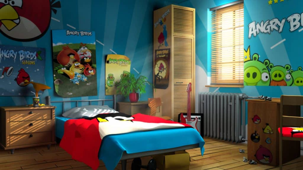 angry birds bedroom ideas wall art kids