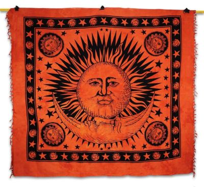 bohemian sun moon wall hanging
